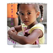 For Of Such... - Haitian Child 1 Shower Curtain