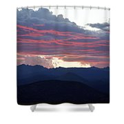 For Purple Mountains Majesty Shower Curtain
