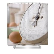 For The Baker Vintage Kitchen Scale  Shower Curtain