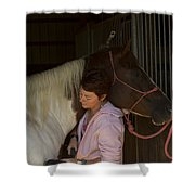 For The Love Of A Horse Shower Curtain