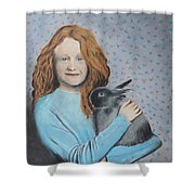 For The Love Of Bunny Shower Curtain