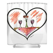 For Two Shower Curtain