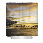 Forbidding Clouds Shower Curtain