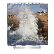 Force Of Breaking Waves Shower Curtain