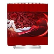 Force Of Creation - Self Portrait Shower Curtain