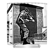 Forced Entry Derry Mural Shower Curtain