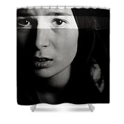 Forceful Mercies Shower Curtain