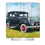 Ford A Tudor Sedan Shower Curtain