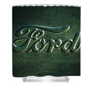 Ford Emblem -0113c Shower Curtain