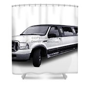 Ford Excursion Stretched Limousine Shower Curtain