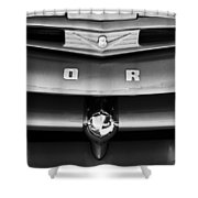 Ford F-1 Pickup Truck Grille Emblem Shower Curtain
