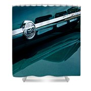 Ford F-2 Pickup Truck Side Emblem Shower Curtain