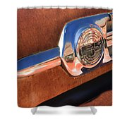 Ford F-5 Pickup Truck Side Emblem Shower Curtain