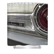 Ford Fairlane 500 Emblem Shower Curtain