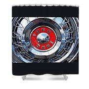 Ford Fairlane Hub Cap Shower Curtain