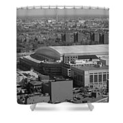 Ford Field Bw Shower Curtain