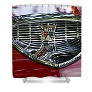 Ford Hood Emblem Shower Curtain