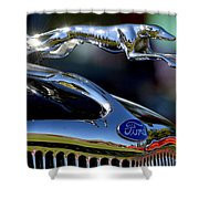 Ford Hood Ornement Shower Curtain