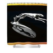 Ford Lincoln Greyhound Mascot Shower Curtain