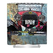 Ford Model A 1928 Oldtimer Shower Curtain
