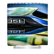 Ford Mustang 351 Engine Emblem -1011c Shower Curtain