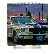 Ford Mustang At Sunset Shower Curtain