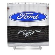Ford Mustang Emblem Shower Curtain