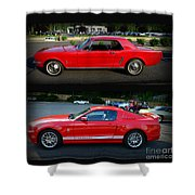 Ford Mustang Old Or New Shower Curtain