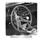 Ford Mustang Shelby In Black And White Shower Curtain