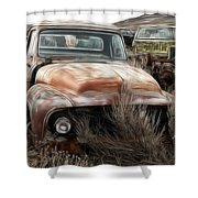 Ford Old Pickup Shower Curtain