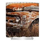Ford Old School Bus Shower Curtain