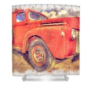 Ford Panel Truck Shower Curtain