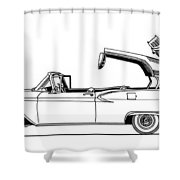 Retractable Ford Top Going Down Shower Curtain
