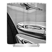 Ford Thunderbird Emblem -0505bw Shower Curtain