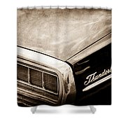 Ford Thunderbird Taillight Emblem Shower Curtain
