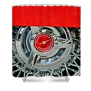 Ford Thunderbird Wheel Emblem Shower Curtain