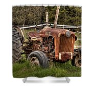 Ford Tractor Shower Curtain by Alana Ranney