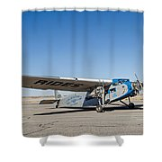 Ford Tri-motor Taxiing Shower Curtain