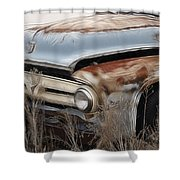 Ford Truck Old F350 Shower Curtain