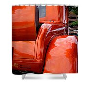 Ford V8 Rear View With Rumble Seat Shower Curtain