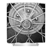 Ford Wheel Emblem -354bw Shower Curtain