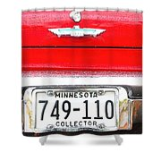 Ford With Minnesota Licence Plate Shower Curtain