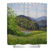 Ford's Pond In Spring Shower Curtain