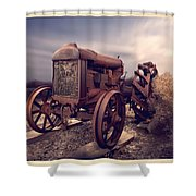 Fordson F Tractor Shower Curtain