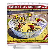 Forepaugh And Sells Wild Wheel Whirl Wonders Shower Curtain