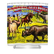 Forepaugh And Sells Wondrous Wild Beasts Shower Curtain