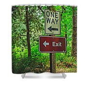 Forest Exit Shower Curtain