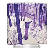 Forest Fence Shower Curtain
