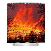 Forest Fire Shower Curtain