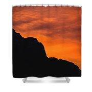 Forest Fire Sunset 01 Shower Curtain